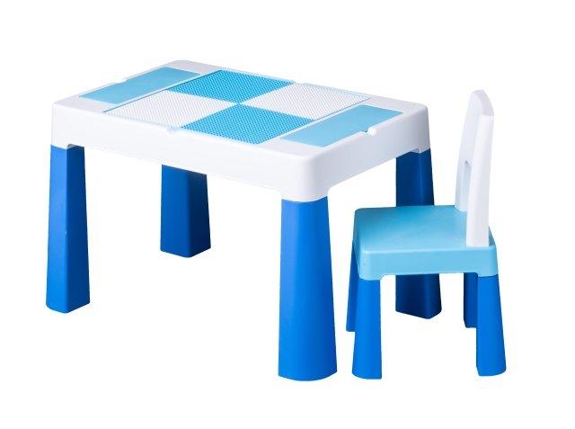 Bērnu galds un krēsliņš MULTIFUN blue TegaBaby MF-001