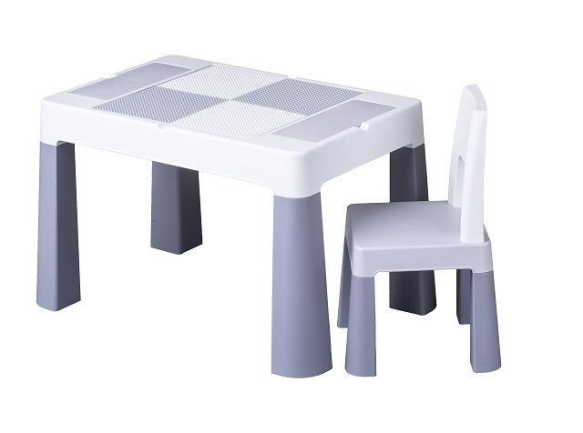 Bērnu galds un krēsliņš MULTIFUN grey TegaBaby MF-001