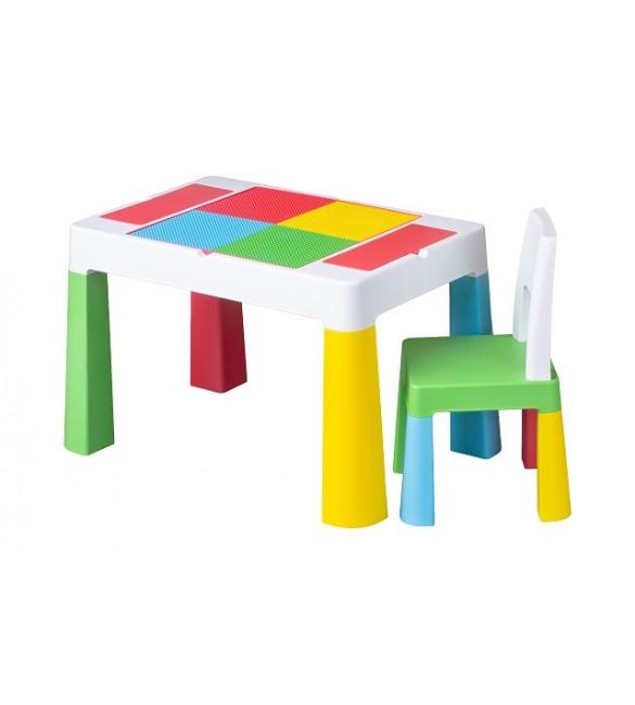 Bērnu galds un krēsliņš MULTIFUN multikolor TegaBaby MF-001