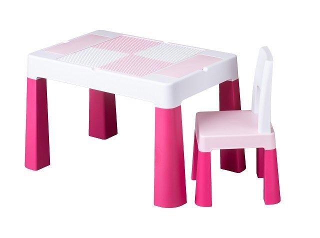 Bērnu galds un krēsliņš MULTIFUN pink TegaBaby MF-001