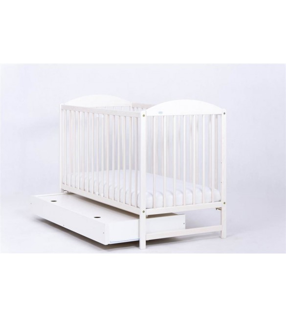 Bērnu gulta ar kasti Balināta priede Drewex KUBA