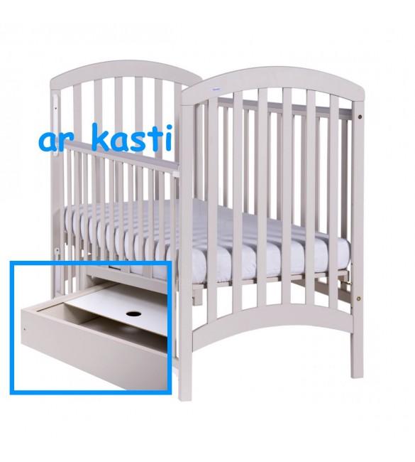 Bērnu gulta ar kasti Drewex ADEL latte