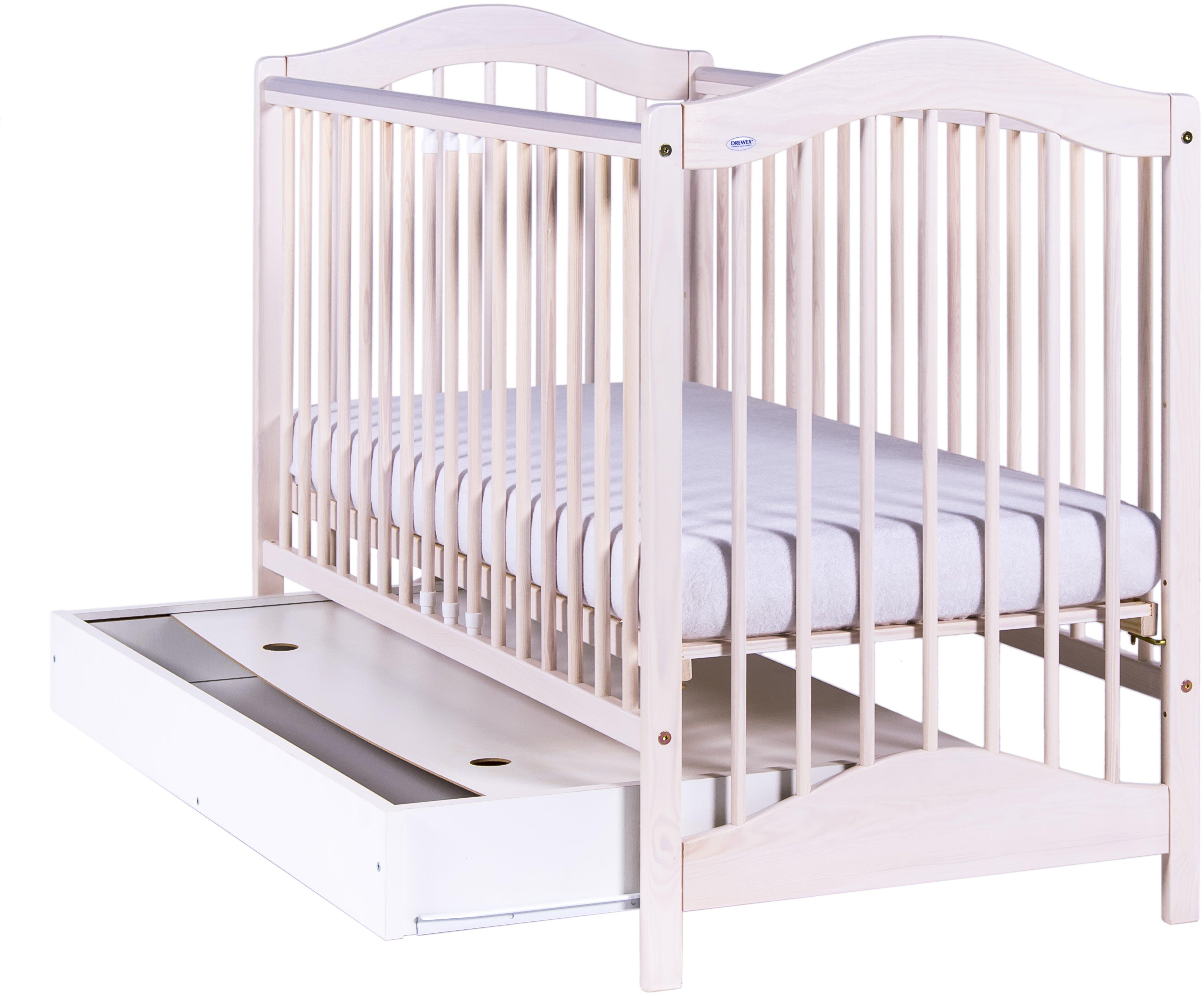 Bērnu gulta ar kasti Drewex JAGODA balināta priede