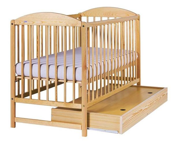 Bērnu gulta ar kasti Drewex KUBA II priežu