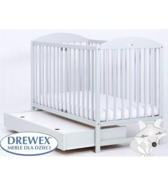 Bērnu gulta ar kasti Drewex LISEK light grey
