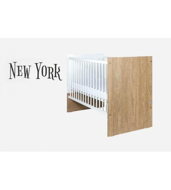 Bērnu gulta ar nolaižamo sānu Drewex NEW YORK OAK