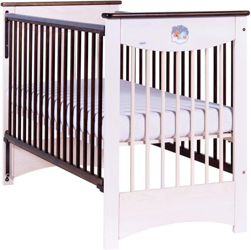 Bērnu gulta ar nolaižamu sānu Drewex MOCCA (cream-choco)