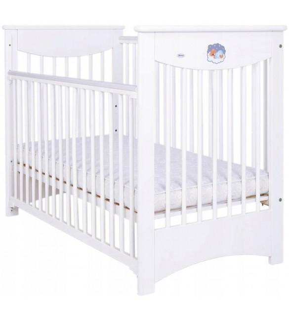 Bērnu gulta ar nolaižamu sānu Priede Drewex LAURA II white