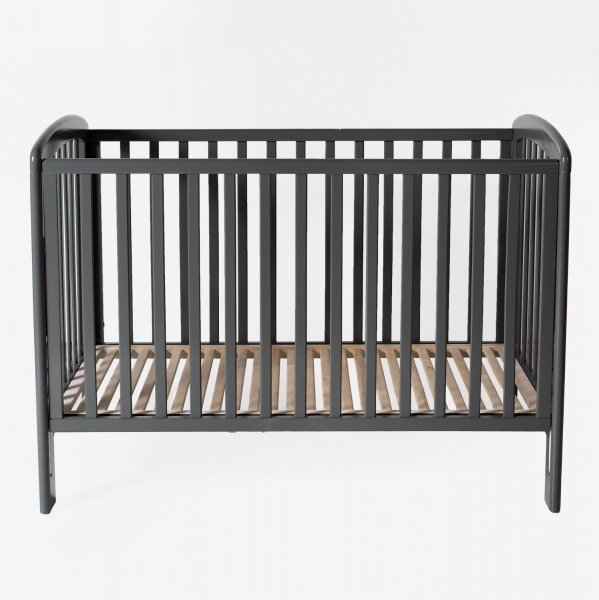 Bērnu gulta ar nolaižamu sānu TROLL Basic Lux Grey COT-BS0183