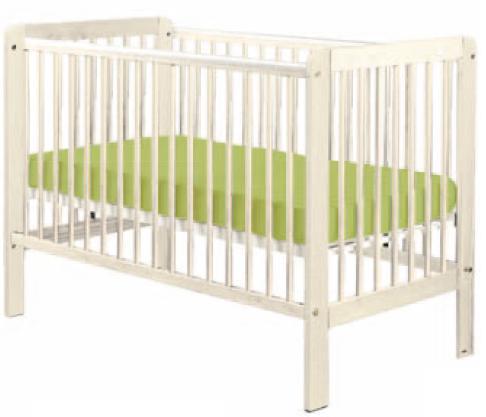 Bērnu gulta ar noņemamu sānu Drewex TIGER balināta priede (Tygryš)