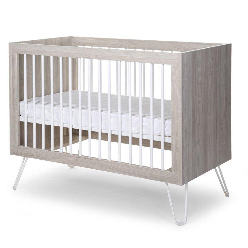 Bērnu gulta CHILDHOME Ironwood Ashen Baby Cot