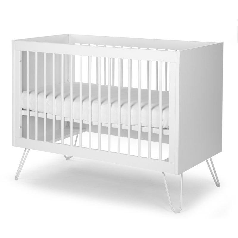 Bērnu gulta CHILDHOME Ironwood White Baby Cot