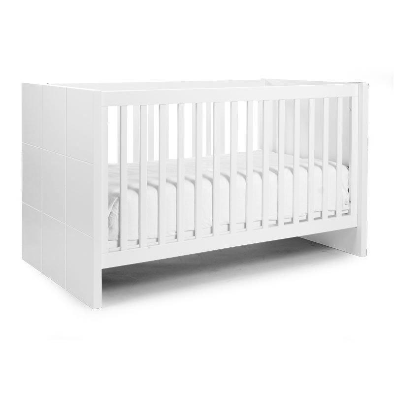 Bērnu gulta CHILDHOME Quadro White Cot + Slats