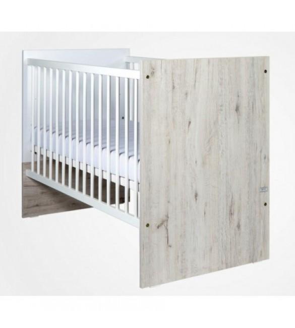Bērnu gulta Drewex CORTONA oak/white (ozola krāsa ar balto)