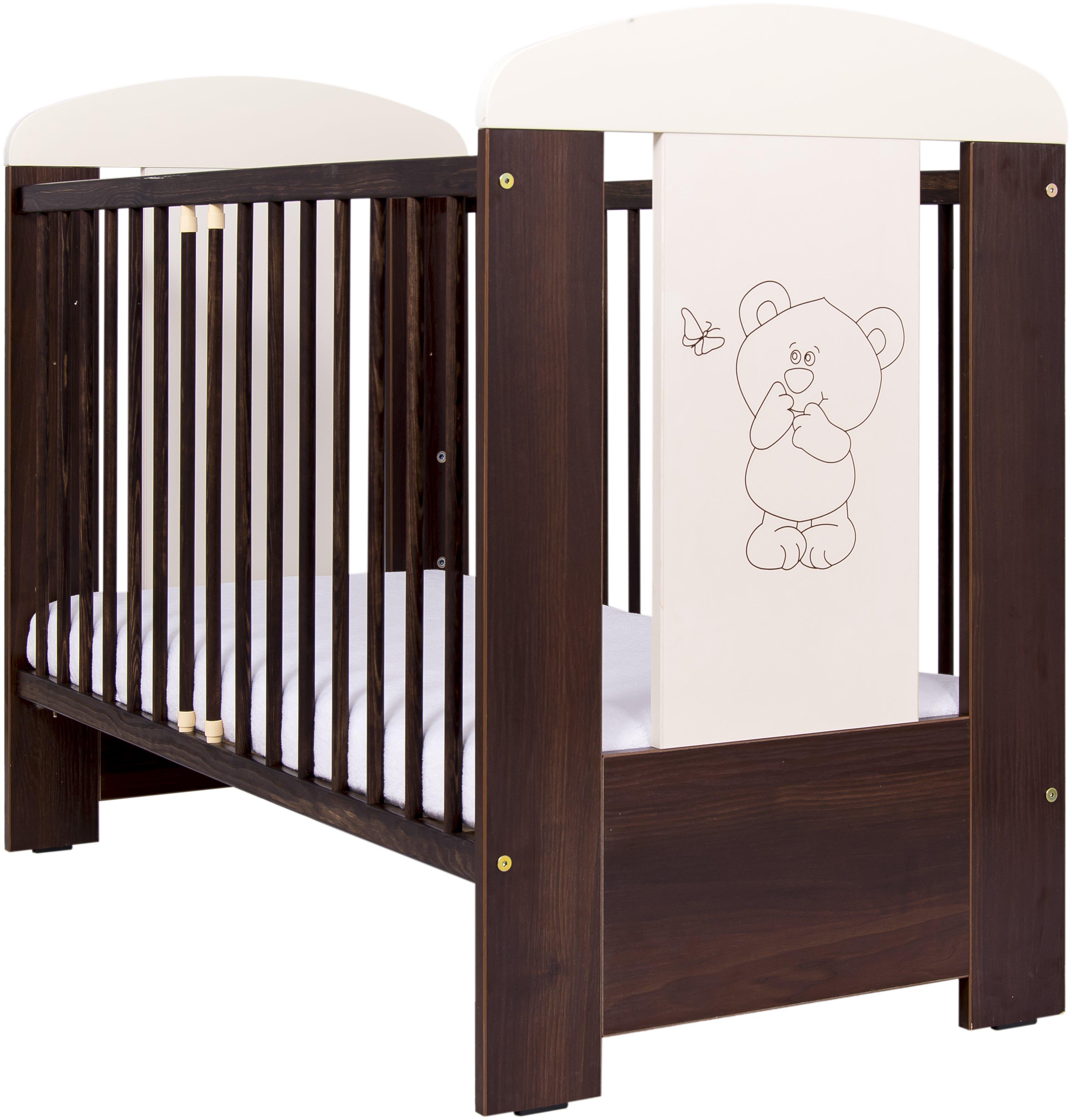Bērnu gulta Drewex LITTLE BEAR and BUTTERFLY (Maly Miš i Motylek)  nut/riekstu