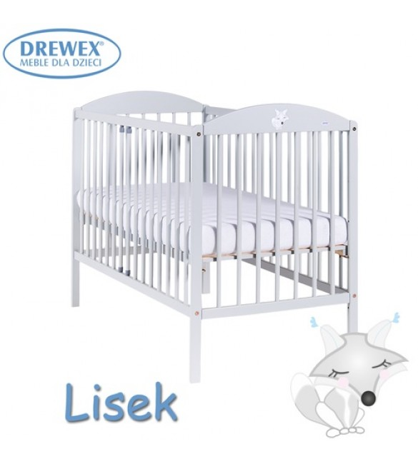 Bērnu gulta Drewex LITTLE FOX (Lisek) light grey