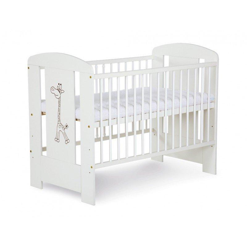 Bērnu gulta Klups Safari ŽIRAFĪTE (Žyrafa) balta
