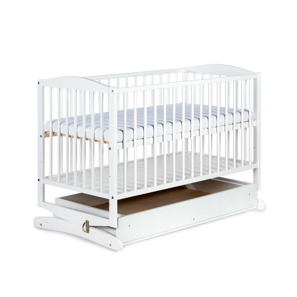 Bērnu gulta-šūpulis ar kasti Klups RADEK baltā