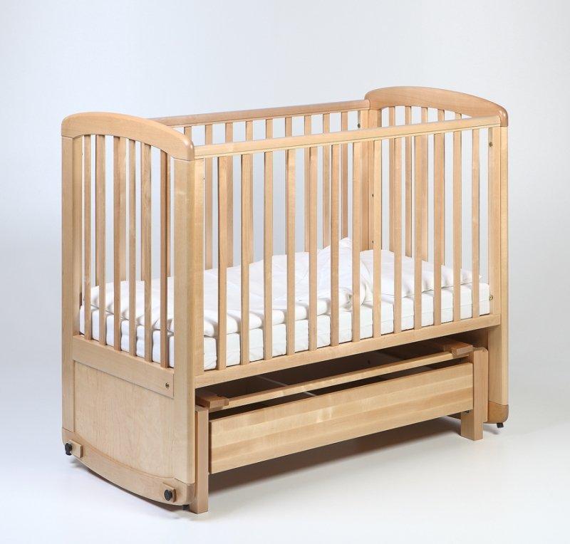 Bērnu gulta šūpulis ar kasti TROLL De Lux Glider Natural COT-GN0474