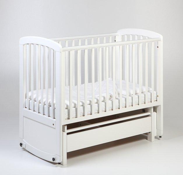Bērnu gulta šūpulis ar kasti TROLL De Lux Glider White COT-GN0474