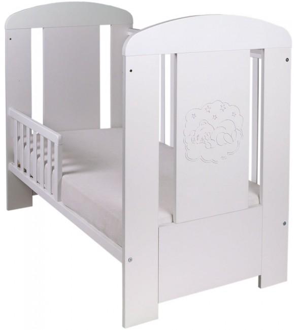 Bērnu gulta-tahta Drewex BEAR PREMIUM balta