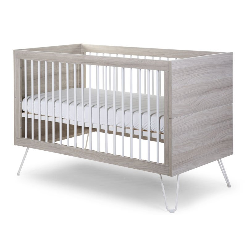 Bērnu gulta-transformeris CHILDHOME Ironwood Ashen Cot Bed + Slats
