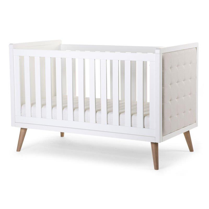 Bērnu gulta-transformeris CHILDHOME Retro Rio White Cot + Slats