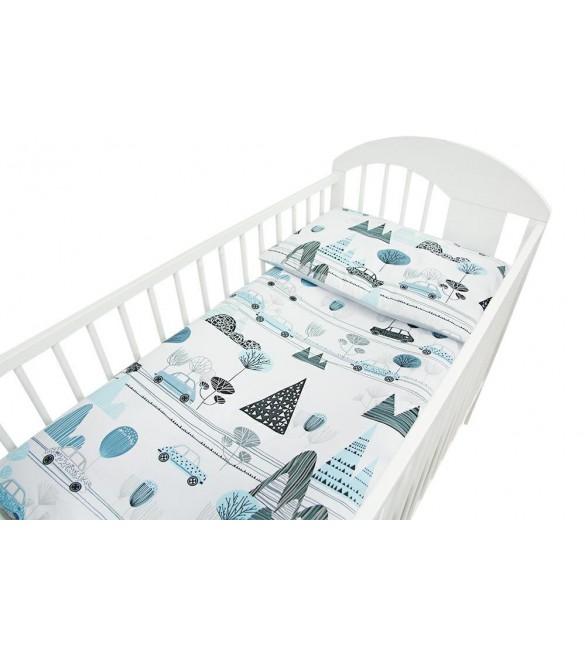Bērnu gultas veļa: 2 daļas virspalags+spilvendrāna Ankras CARS K-2