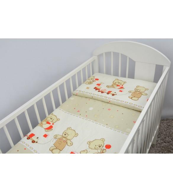 Bērnu gultas veļa: 2 daļas virspalags+spilvendrāna ANKRAS COOKIES K-2 beige ANKR-COO-BE.K2120