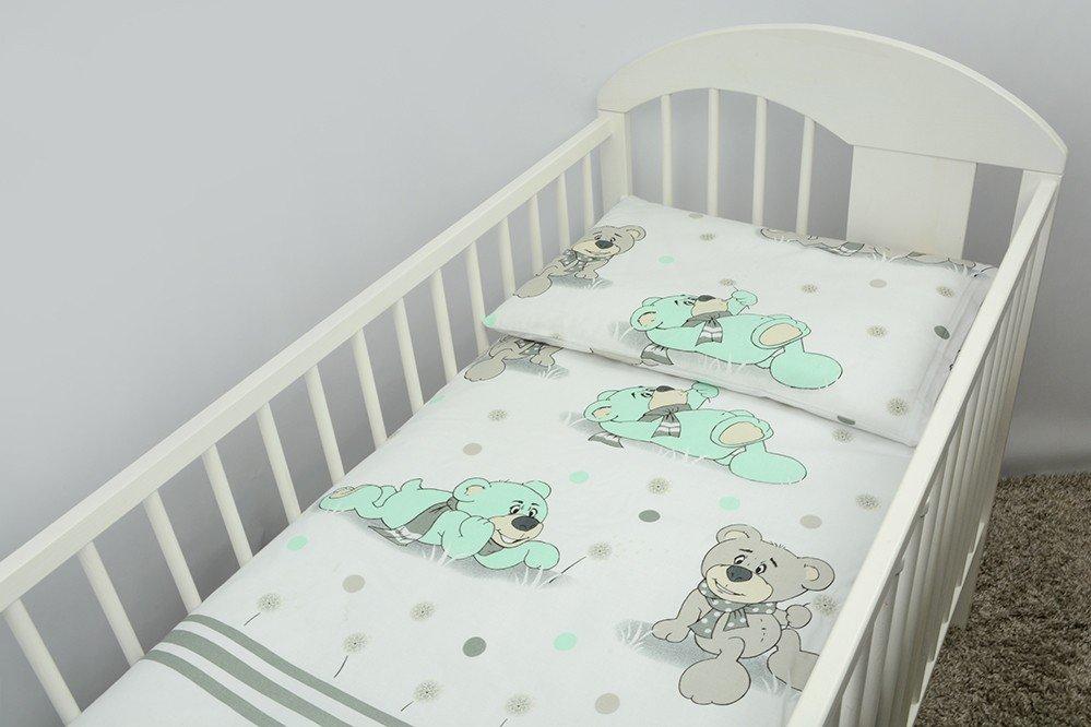 Bērnu gultas veļa: 2 daļas virspalags+spilvendrāna ANKRAS DREAMER K-2 aquamarine