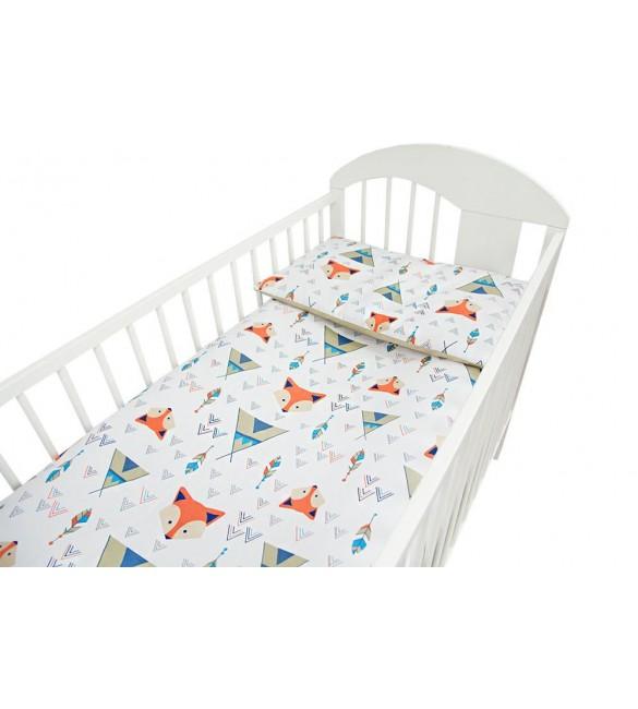 Bērnu gultas veļa: 2 daļas virspalags+spilvendrāna Ankras FOX K-2