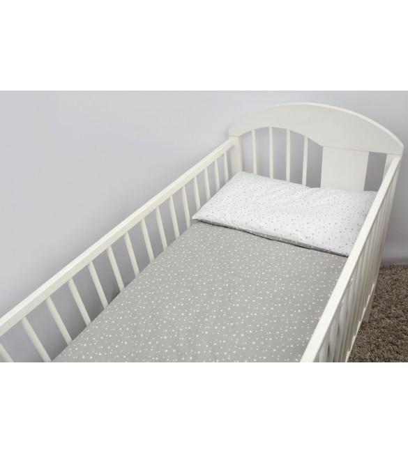Bērnu gultas veļa: 2 daļas virspalags+spilvendrāna ANKRAS GALAXY K-2 grey ANKR-GAL.K2