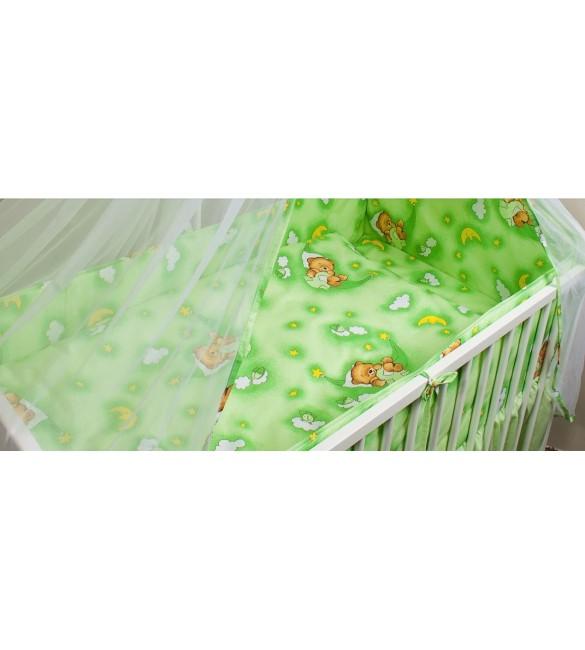 Bērnu gultas veļa: 2 daļas virspalags+spilvendrāna Ankras HAMMOCKS K-2 green