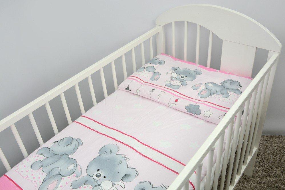 Bērnu gultas veļa: 2 daļas virspalags+spilvendrāna ANKRAS MIKA K-2 pink