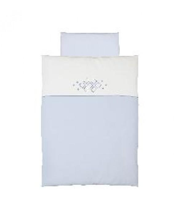 Bērnu gultas veļa: 2 daļas virspalags + spilvendrāna CEBA BABY CEBA-K2CARO.BLUE