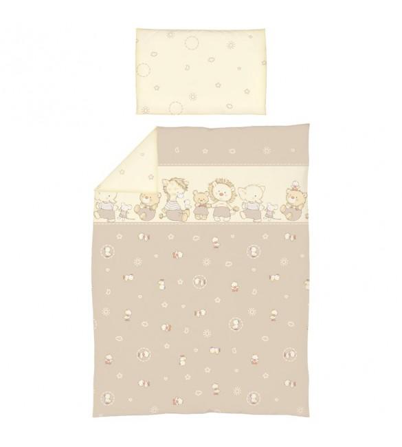 Bērnu gultas veļa: 2 daļas virspalags+spilvendrāna CEBA BABY DUCKLINGS K-2 802
