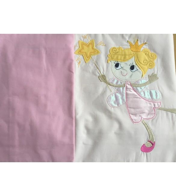Bērnu gultas veļa: 2 daļas virspalags + spilvendrāna PUCHATEK PRINCESS K-2 pink PUC-K2PRI