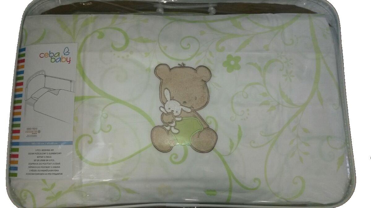 Bērnu gultas veļa: 3 daļas virspalags + spilvendrāna + apmalīte Papa bear CEBA BABY CEBA-800-004papa