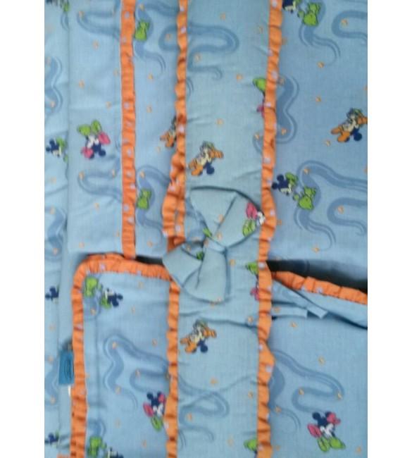 Bērnu gultas veļa: 4 daļas DREWEX Kolorino DISNEY MICKEY K-4 blue M-03