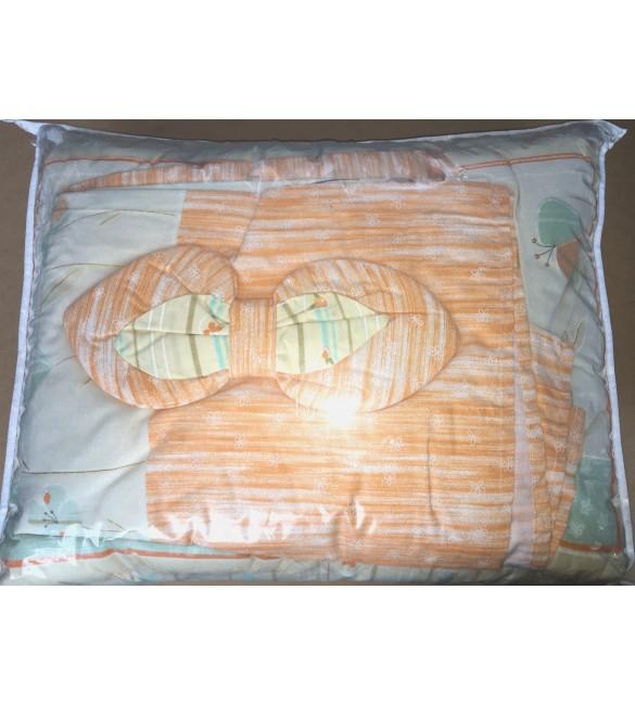 Bērnu gultas veļa: 4 daļas DREWEX Kolorino MOM&BABY K-4 orange F-090