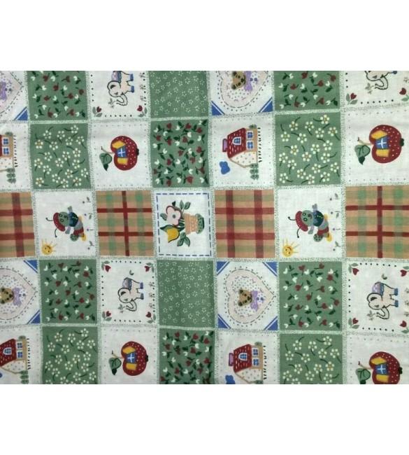 Bērnu gultas veļa: 4 daļas GLUCK Patchwork K-4