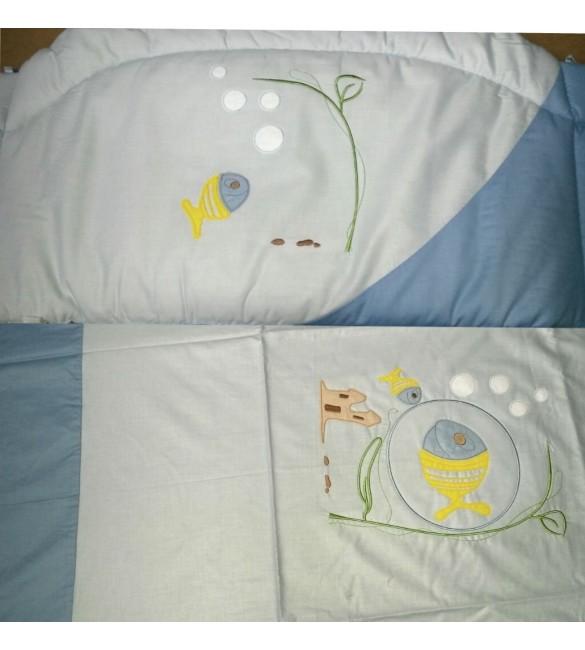 Bērnu gultas veļa: 4 daļas PUCHATEK MARINA K-4 blue (135,180)