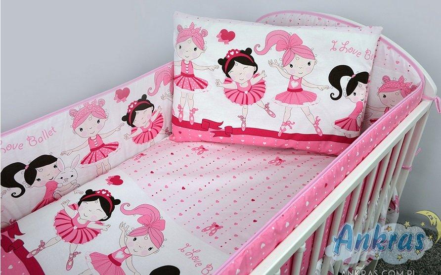 Bērnu gultas veļa: 5 daļas Ankras BALERĪNA Baletnica K-5 pink (135,360)
