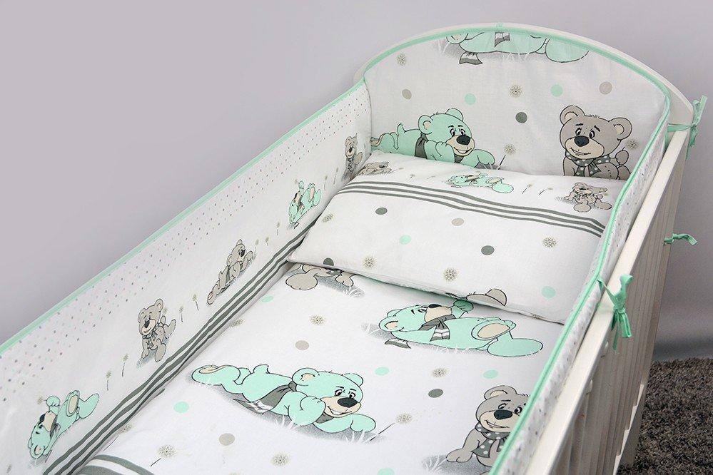 Bērnu gultas veļa: 5 daļas Ankras DREAMER K-5 aquamarine (135, 360)