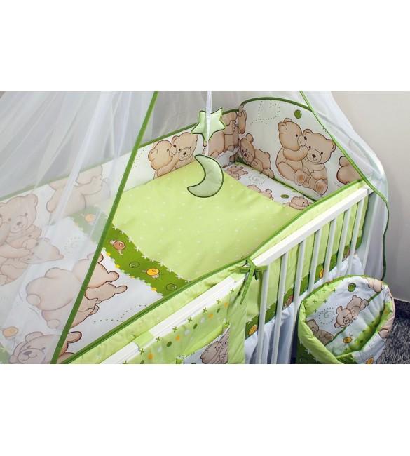 Bērnu gultas veļa: 5 daļas Ankras FRIENDS K-5 green (135, 360)