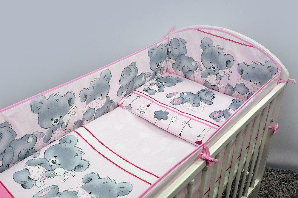 Bērnu gultas veļa: 5 daļas Ankras MIKA K-5 pink (135,360)