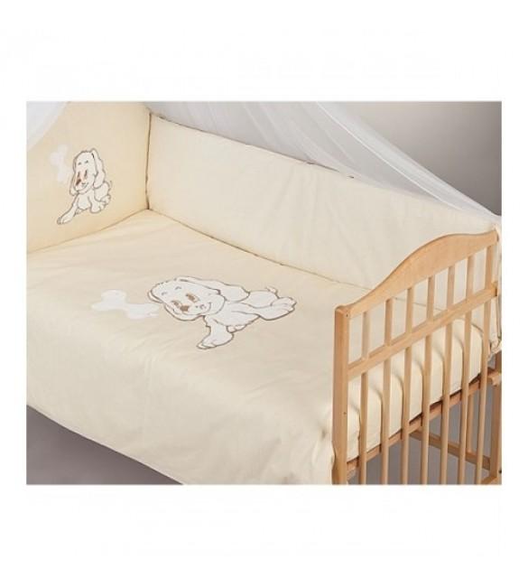 Bērnu gultas veļa: 5 daļas PUCHATEK DOGGY K-5 beige PUC-K5DOG.BE2