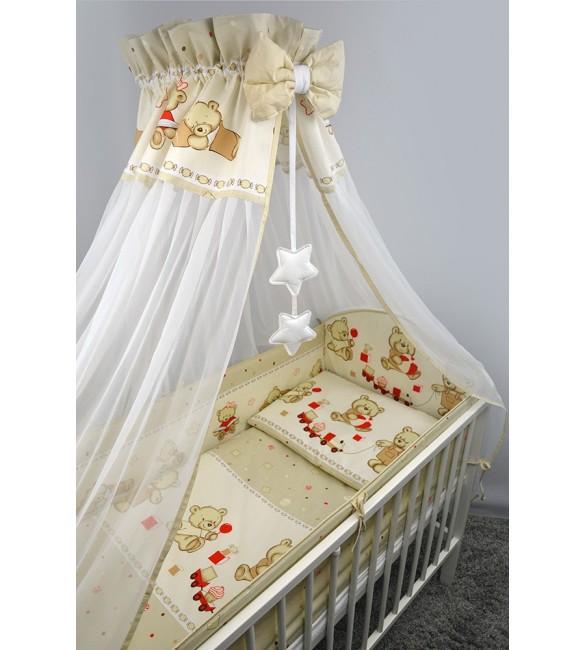 Bērnu gultas veļa: 6 daļas ANKRAS COOKIES K-6 beige ANKR-COO-BE.K6