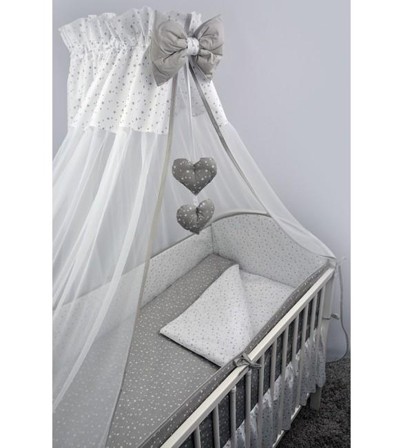 Bērnu gultas veļa: 6 daļas Ankras GALAXY grey K-6 (135, 360)
