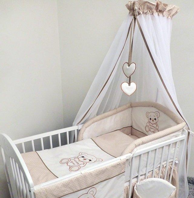 Bērnu gultas veļa: 6 daļas Ankras HAPPY BEAR K-6 beige (135/180cm)
